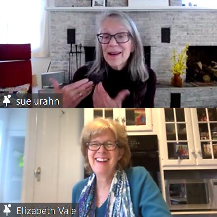 Susan Urahn chats with Elizabeth Vale